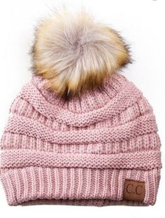 7c9f301120bb45   The sold out colors will be restocking on November A little twist on the  popular CC beanie hats - a faux fur pom pom on top! Available in 20  fabulous ...