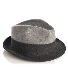 Chapeau feutre bicolore  gris by GERARD DAREL