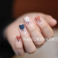 I m fall in love with this nails. Love Nails, How To Do Nails, Fun Nails, Beauty And More, Nailart, Minimalist Nails, Manicure E Pedicure, Creative Nails, Trendy Nails