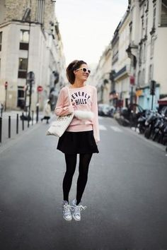 How To Wear Sneakers for Spring: 85 Street Style Photos | StyleCaster#_a5y_p=1476477