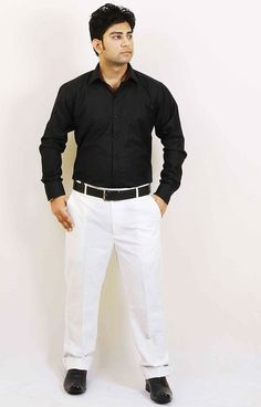 Buy Black Party Wear Cotton Shirt For Men Online in India | Party ...