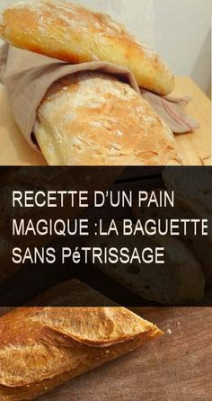 Pain Baguette, Cooking Chef, Deli, Coco, Bread Recipes, Food Inspiration, Nutella, Food Porn, Brunch