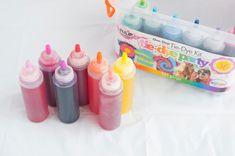 How To Tie Dye Towels - mix dyes Diy Tie Dye Towels, How To Tie Dye, How To Make, Tulip Tie Dye, Tie Dye Party, Pink Dye, Tie Dye Kit, Tie Dye Designs, Double Stick Tape
