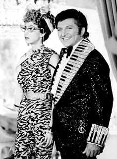 Liberace giving a tour for 'The Sonny and Cher Show' 1974 Get out! It's almost too much for my kitschy little heart :D