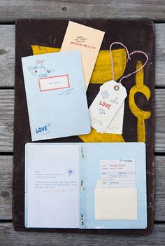 Send out notebook-style wedding invitations