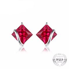2.8ct Red Ruby Stud Earrings! In-Stock and FREE SHIPPING to U.S! ★★LIMITED TIME OFFER★★  Click here to get yours now!  ⭐️ 😍Repin if you would love to have this😍