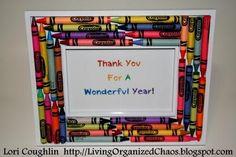 crayon basket - Thank you gift for teacher!