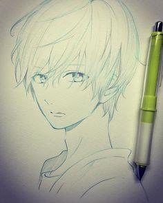 写真の説明はありません。 Anime Art, Sketches, Anime Drawings Sketches, Anime Sketch, Art, Manga Drawing Tutorials, Animated Drawings, Bff Drawings, Anime Boy Hair