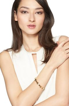St. John Collection Metallic Bangle available at #Nordstrom