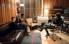 Tegan & Sara. (musicians) At their recording studio. (Thanks to: Rolling Stone)