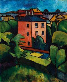 Alexander Kanoldt - Das rote Haus - 1910