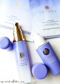 TATCHA The Water Collection.  TATCHA just added two new items to their water collection, a serum and an eye mask.  Check it out.