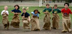 tractor party games- potato sack races game