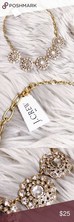"""NWT J Crew Factory Women's Layered Circle Necklace Product Details: - Brass casting, epoxy and acrylic stones, cubic zirconia, steel chain. - Flash gold plating. - Length: 18"""" with a 3"""" extender chain for adjustable length. J. Crew Factory Jewelry Necklaces"""