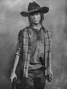CARL GRIMES - It's shades of grey for THE WALKING DEAD Season 6 Portraits, plus a new character added - The Fandom