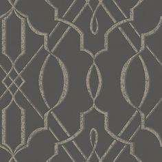 "Contemporary Arabesque 32.97' x 20.8"" Geometric Wallpaper   Wayfair"
