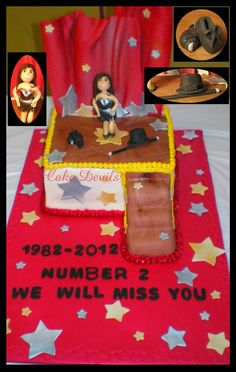 Dance school retirement cake