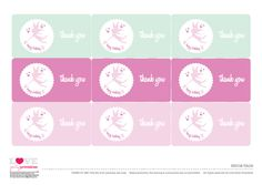 free printable fairy birthday party favor tags