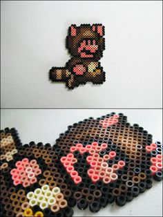 Super Mario 3 - Tanuki Mario - bead sprite magnet