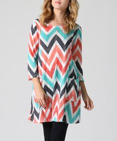 Love this Mint Chevron Pocket Tunic on #zulily! #zulilyfinds