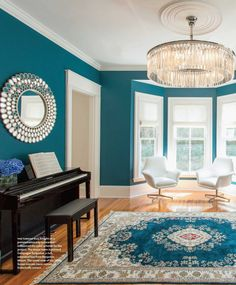Browse photos of Turquoise Room Ideas. Find ideas and inspiration for Turquoise Room to add to your own home. #HomeDecorIdeas #HouseIdeas #TurquoiseRoomIdeas