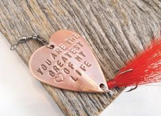 Personalized Gift for Wife Mother's Day Mom You Are The Greatest Love of My Life Fishing Lure Womens Gifts for Wifey Custom Gifts for Wife