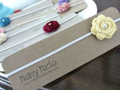 Recycled cardboard headband display cards for your lovely hairbows @Jordan Bromley Christine Taylor