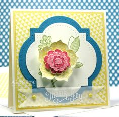 Karte, Raining Flowers, Stampin up