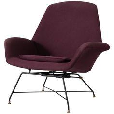 Ugusto Bozzi Purple Adjustable Easy Chair for Saporiti 1