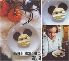 Halloween How-to: Nutritious 'Mummified' Mickey Mouse Toddler Snacks #disneybaby