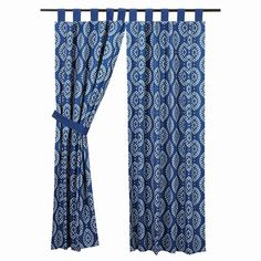 "Add a fun modern twist to any room in your home. Our Paloma Indigo Tab Top Lined Panel Curtains 84"" would look great with several mediums like live greenery, galvanized metal, and farmhouse floors. https://www.primitivestarquiltshop.com/collections/paloma-indigo-curtains/products/paloma-indigo-tab-top-lined-panel-curtains-84 #countrystylecurtains"