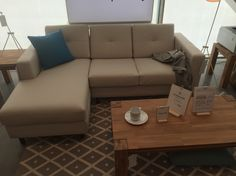 Solo sofa with chaise eq3