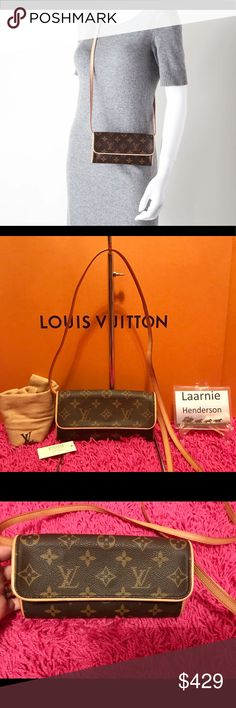 1967b1f8ce3a Authentic Louis Vuitton Twin Pochette PM This is the perfect accessory to  carry all your personal