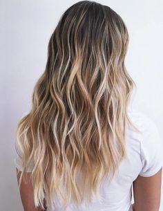 Dark Blonde Hair with Soft Balayage