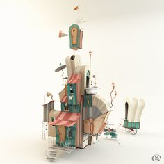ArtStation - The Oncler House from 'The Lorax', Yvonne Zacharias