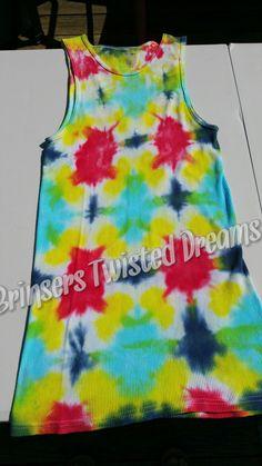 Men's- XL- Tank Top- Tie Dye- Undershirt- Adult- Unisex- Sleeveless Shirt- Original- Kaleidoscope- Concert Wear- Hippie- Boho- Rainbow Gift by BrinserTwistedDreams on Etsy
