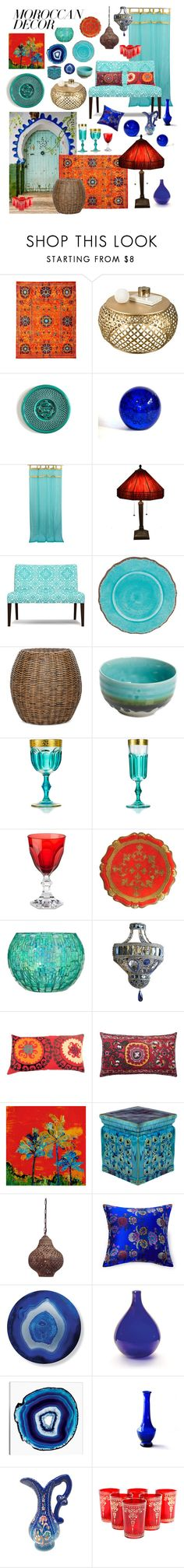 """The Place the Sun Sets!"" by julu-eva ❤ liked on Polyvore featuring interior, interiors, interior design, home, home decor, interior decorating, Marrakech, Godinger, Warehouse of Tiffany and Frontgate"