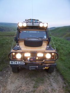 1998 Land Rover Defender 110 and head lights