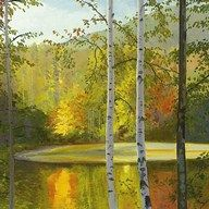 Cooper Lake, Autumn  Fine Art Print