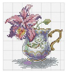 Cross Stitch - Orchid Tea
