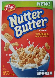 """""""What's the best peanut butter cereal?"""" is perhaps one of breakfast's most divisive questions—right up there with """"is cereal a soup?""""(No, it's not: soup is a concept, not a thing defined by it Best Peanut Butter, Nutter Butter, Peanut Butter Cookies, Crescent Rolls, Breakfast Recipes, Snack Recipes, Snacks, Crunch Cereal, Cereal Killer"""