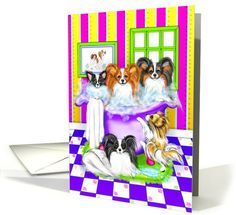 Papillon Dog Tub Full card