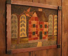 Wooly Folk Art Picture www,rebekahlsmith.com