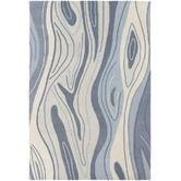 "Wayfair: Inhabit Designer Blue Rug, India, NZ Wool, 0.75"", 5x7.5 ($769)"