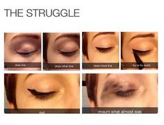 LOL We just find these makeup and beauty memes so funny. How true are these! New Memes, Funny Memes, Hilarious, 5sos Memes, True Memes, It's Funny, Panda Eyes, Makeup Humor, Pranks