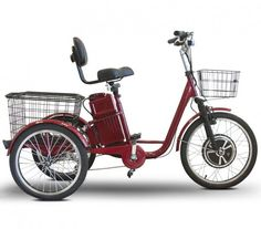 Purchase Your EWheels 500 Watt Adult Electric Powered Tricycle Motorized 3 Wheel Trike Bicycle - Today! Adult Tricycle, Tricycle Bike, Trike Bicycle, Cargo Bike, Bicycle Tools, Bicycle Basket, 3 Wheel Electric Bike, Electric Tricycle, Electric Power