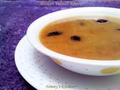 A healthy kheer using Broken wheat, jaggery and coconut milk.