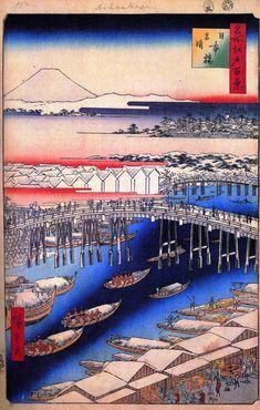 「日本橋雪晴」歌川広重 春の名所江戸百景 1