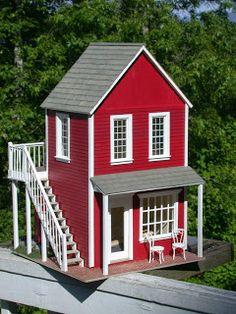 Mini Shed, Little Houses, Mini Houses, Real Good Toys, Cardboard Model, Doll House Plans, Bird Houses Painted, Barbie House, Miniature Houses