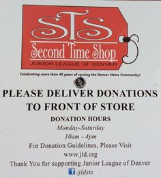 Donation Hours here at #JLDSecondTimeShop! Don't forget to Like JLDSTS on Facebook